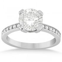 Eternity Diamond Side Stone Engagement Ring 18k White Gold (0.45ct)