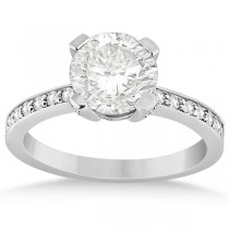 Eternity Diamond Side Stone Engagement Ring Platinum (0.45ct)
