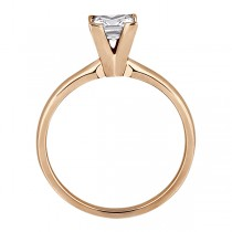 14k Rose Gold Solitaire Engagement Ring Princess Cut Diamond Setting