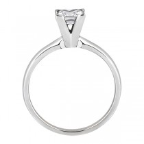 14k White Gold Solitaire Engagement Ring Princess Cut Diamond Setting