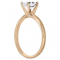 Four-Prong 14k Rose Gold Solitaire Engagement Ring Setting|escape