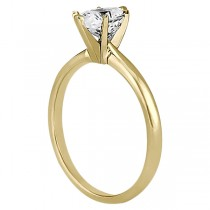 Six-Prong 18k Yellow Gold Engagement Ring Solitaire Setting