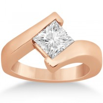 Princess Cut Tension Set Engagement Ring Setting 14k Rose Gold