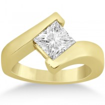 Princess Cut Tension Set Engagement Ring Setting 14k Yellow Gold