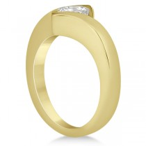 Princess Cut Tension Set Engagement Ring Setting 18k Yellow Gold