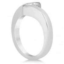 Princess Cut Tension Set Engagement Ring Solitaire Setting Platinum