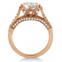 Edwardian Diamond Engagement Ring Setting 14K Rose Gold (0.35ct)