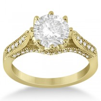 Edwardian Diamond Engagement Ring Setting 18k Yellow Gold (0.35ct)
