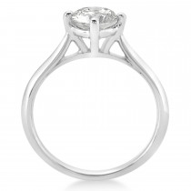 Round Solitaire Diamond Engagement Ring 14k White Gold 1.00ct