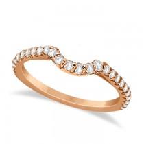 Halo Diamond Bridal Set w/ Side Stones 14K Rose Gold (1.33ct)