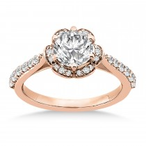 Diamond Sidestone-Accented Engagement Ring 14k Rose Gold (0.36ct)