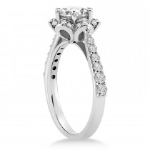 Diamond Sidestone-Accented Engagement Ring 14k White Gold (0.36ct)