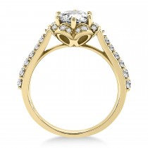 Diamond Sidestone-Accented Engagement Ring 18k Yellow Gold (0.36ct)