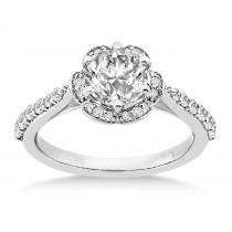 Diamond Sidestone-Accented Engagement Ring Palladium (0.36ct)