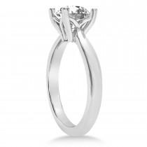 Diamond Fancy Engagement Ring 14k White Gold