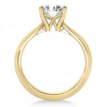 Diamond Fancy Engagement Ring 14k Yellow Gold