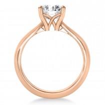 Diamond Fancy Engagement Ring 18k Rose Gold