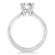Diamond Fancy Engagement Ring 18k White Gold