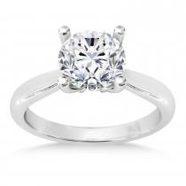 Diamond Fancy Engagement Ring Palladium