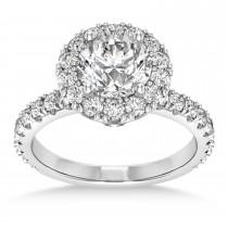 Diamond Halo Engagement Ring Palladium (0.90ct)