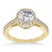 Diamond Sidestones Engagement Ring 14k Yellow Gold (0.44ct)