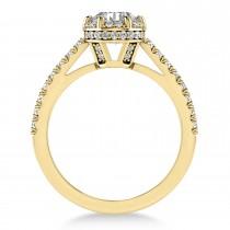 Diamond Sidestones Engagement Ring 18k Yellow Gold (0.44ct)