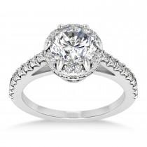 Diamond Sidestones Engagement Ring Palladium (0.44ct)