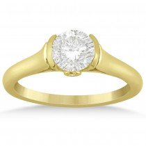 Diamond Semi Bezel Engagement Ring Setting 14k Yellow Gold (0.03ct)