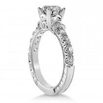 Diamond Vintage Style Engagement Ring Platinum (0.52ct)