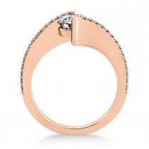 Diamond Bypass Tension Set Engagement Ring 14k Rose Gold (0.28ct)