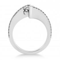 Diamond Bypass Tension Set Engagement Ring 14k White Gold (0.28ct)