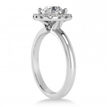Diamond Cathedral Engagement Ring 14k White Gold (0.29ct)