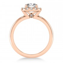Diamond Cathedral Engagement Ring 18k Rose Gold (0.29ct)