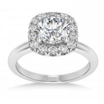 Diamond Cathedral Engagement Ring 18k White Gold (0.29ct)