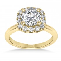 Diamond Cathedral Engagement Ring 18k Yellow Gold (0.29ct)
