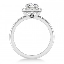 Diamond Cathedral Engagement Ring Palladium (0.29ct)