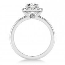 Diamond Cathedral Engagement Ring Platinum (0.29ct)