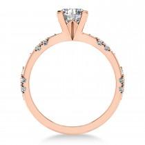 Diamond Prong Engagement Ring 14k Rose Gold (0.32ct)