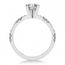 Diamond Prong Engagement Ring 14k White Gold (0.32ct)