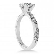 Diamond Prong Engagement Ring 18k White Gold (0.32ct)