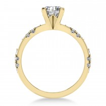 Diamond Prong Engagement Ring 18k Yellow Gold (0.32ct)