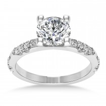 Diamond Prong Engagement Ring Palladium (0.32ct)