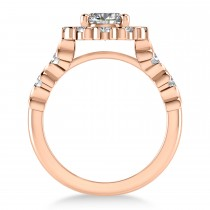 Diamond Petal Styled Engagement Ring 14k Rose Gold (1.00ct)