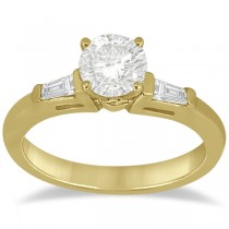 Three Stone Baguette Diamond Engagement Ring 14K Yellow Gold (0.20ct)