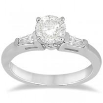 Diamond Baguette Engagement Ring & Wedding Band Set 14K White Gold (0.60ct)|escape