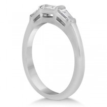 Three Stone Baguette Diamond Wedding Ring in Platinum (0.40ct)
