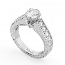 Vintage Diamond Engagement Ring Setting Palladium (1.05ct)