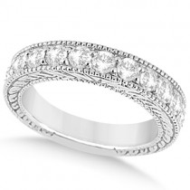 Antique Diamond Wedding & Engagement Ring Set 14k White Gold (3.15ct)