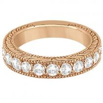 Antique Diamond Engagement Wedding Ring Band 18k Rose Gold (1.10ct)
