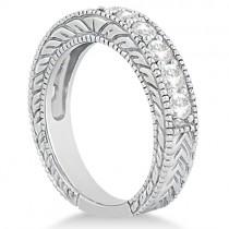 Antique Diamond Engagement Wedding Ring Band Palladium (1.10ct)